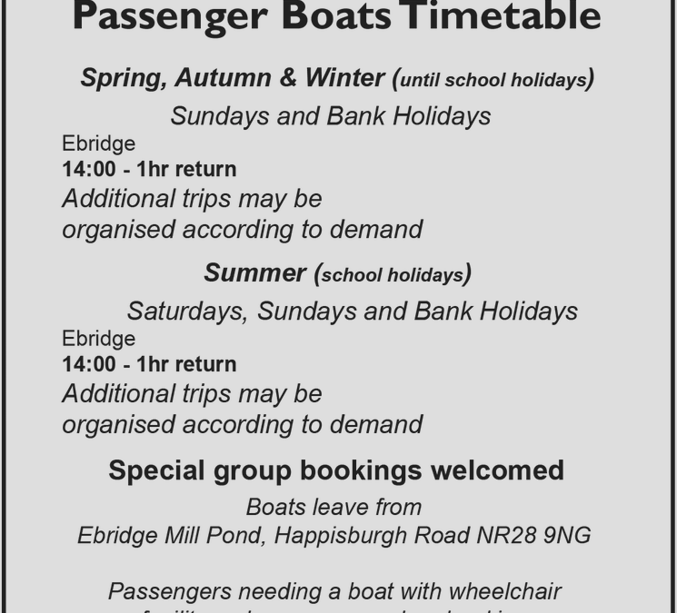 Cruise the canal Saturday's and Sunday's – ring 07585 160 772 to book your seat