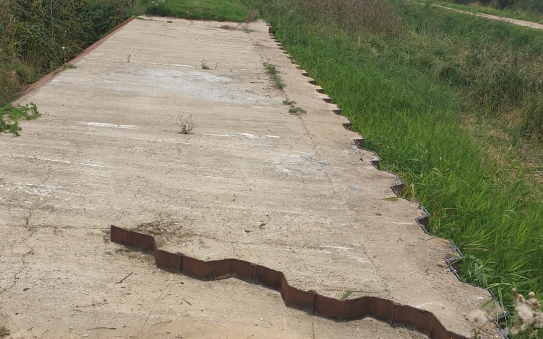 Royston spillway completed