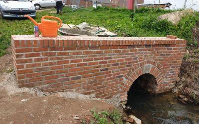 Ebridge culvert brickwork completed